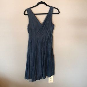 Anthropologie midi denim dress